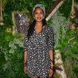 """Exclusif - Imany assiste à la soirée du deuxième anniversaire de la marque de produits cosmétiques pour femmes enceintes Joone sur la péniche """"La Pause Parisienne"""" à Paris le 10 juillet 2019. © Veeren/Bestimage"""