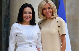 Brigitte Macron irréprochable en beige pour recevoir une autre première dame
