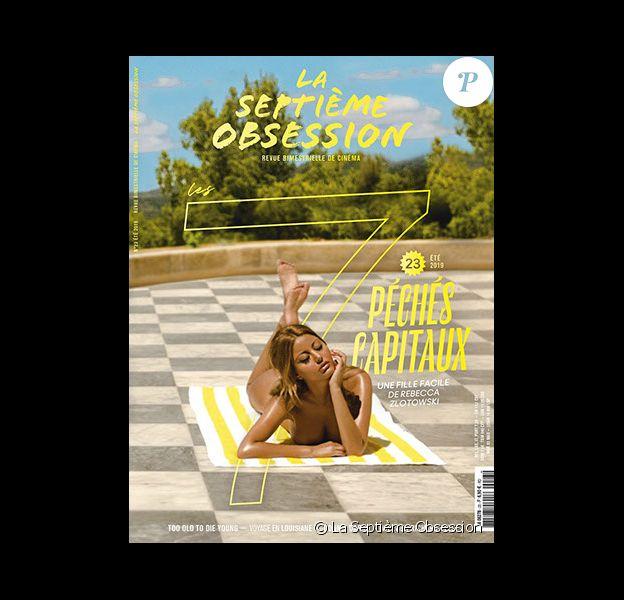 Zahia Dehar figure en couverture du magazine La Septième Obsession. Photo par Julian Torres.
