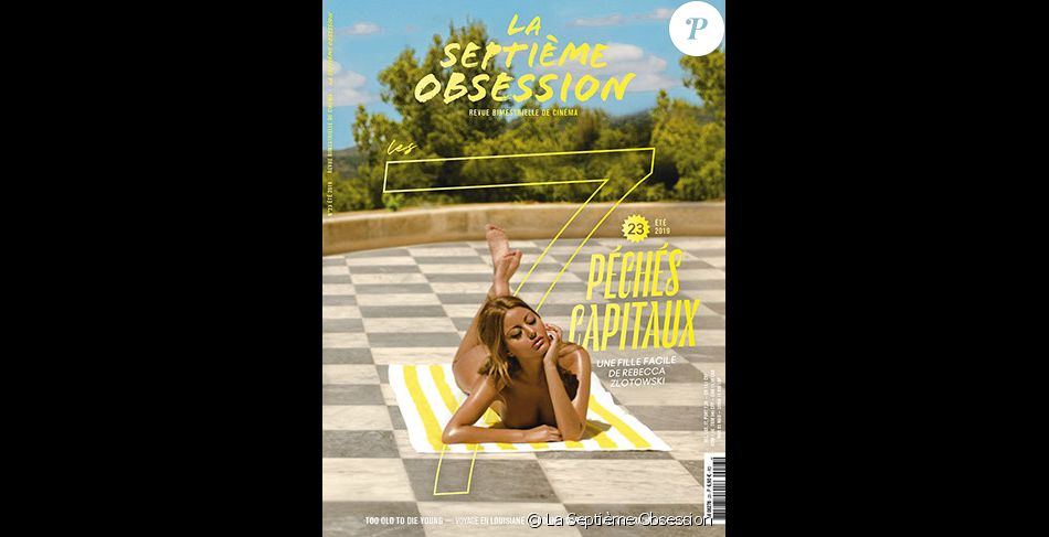 Zahia Dehar figure en couverture du magazine La Septième Obsession. Photo par Julian Torres.