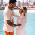 Carla Moreau, enceinte, et son compagnon Kevin Guedj - Instagram, 16 mai 2019