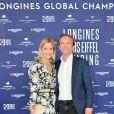 Exclusif - Docteur Frédéric Saldmann et sa femme Marie - Photocall du dîner - Longines Paris Eiffel Jumping au Champ de Mars à Paris, France, le 5 juillet 2019. © Veeren Ramsamy/Bestimage