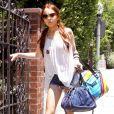 Lindsay Lohan sort de chez sa chérie, Samantha Ronson (Los Angeles, 25 juin)