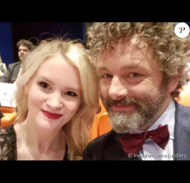 Anna Lundberg et Michael Sheen sur Instagram.