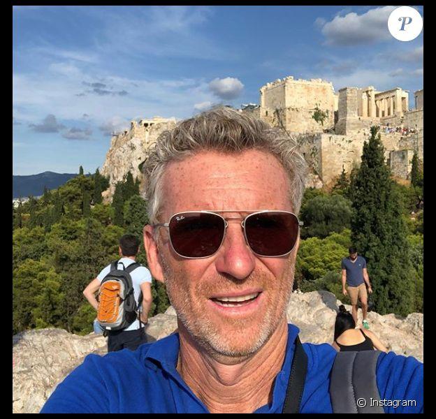 Denis Brogniart lors de son séjour à Athènes, en Grèce, en juillet 2019.
