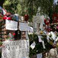 Les fleurs et messages en hommage à Michael Jackson devant la résidence de la famille Jackson le 27 juin 2009