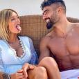 Sarah Lopez et son petit ami Jonathan complices à Monte Carlo, le 1er juillet 2019