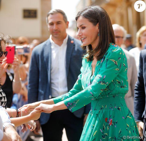 """La reine Letizia d'Espagne lors de l'inauguration des cours d'été de l'Ecole Internationale de Musique de la Fondation """"Princess of Asturias"""" à Oviedo. Le 25 juillet 2019 19 -"""
