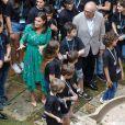 """La reine Letizia d'Espagne lors de l'inauguration des cours d'été de l'Ecole Internationale de Musique de la Fondation """"Princess of Asturias"""" à Oviedo. Le 25 juillet 2019"""