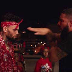 """Chris Brown et Drake dans le clip de la chanson """"No Guidance"""". Juillet 2019."""