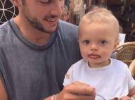 Caroline Receveur : Son fils Marlon (1 an) fait ses premiers pas sur la plage