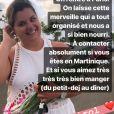 Agathe Auproux a partagé sur Instagram de nombreuses images de ses vacances en Martinique, en juillet 2019, et a fait une belle publicité à Caroline Girol, qui l'a régalée.