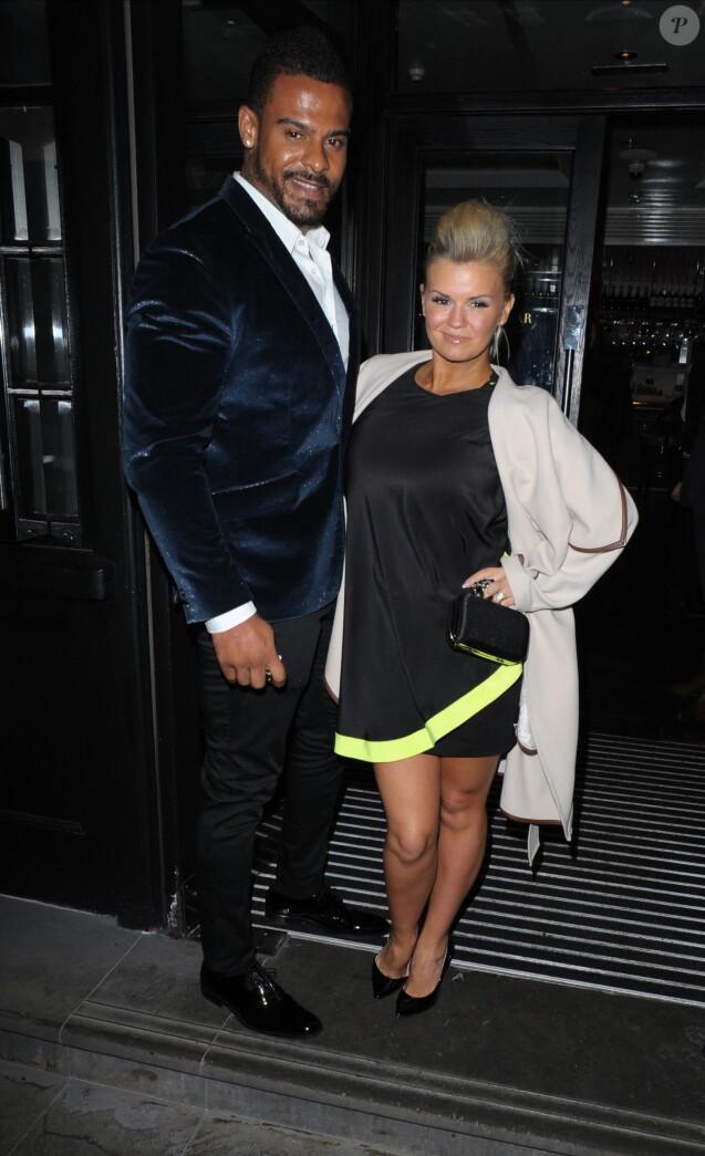 Kerry Katona et son ex-mari George Kay à Londres. Novembre 2014.