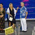 Michael Douglas et sa Catherine Zeta-Jones en vacances à Portofino en Italie le 31 juillet 2019.