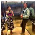 Jessica Mulroney, meilleure amie de Meghan Markle (duchesse de Sussex), et son mari Ben dans un ascenseur en Australie, photo Instagram du 21 octobre 2018.