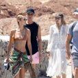 Gigi, Bella Hadid et leurs amies profitent d'un après-midi ensoleillé à Mykonos, en Grèce. Le 29 juillet 2019.