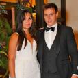 Marie Chevallier et Louis Ducruet lors de la réception de leur mariage organisée au Monte-Carlo Bay, le 27 juillet 2019.