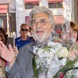 Placido Domingo est accueilli par ses fans à son arrivée à l'opéra de Vienne. Le 28 mai 2018 28/05/2018 - Vienne