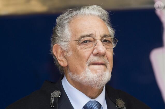 Placido Domingo inaugure sa statue de cire à Madrid en Espagne le 24 janvier 2016.  Singer tenor Placido Domingo during the presentation of his wax figure at Wax Museum of Madrid. On Saturday 24th January, 201624/01/2016 - Madrid