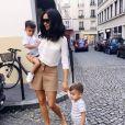 Sidonie Biémont avec ses jumeaux Zayn et Madi. Instagram le 19 septembre 2018.