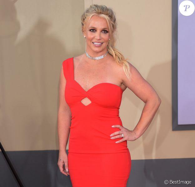 """Britney Spears à la première de """"Once Upon a Time... in Hollywood"""" à Los Angeles, le 22 juillet 2019."""