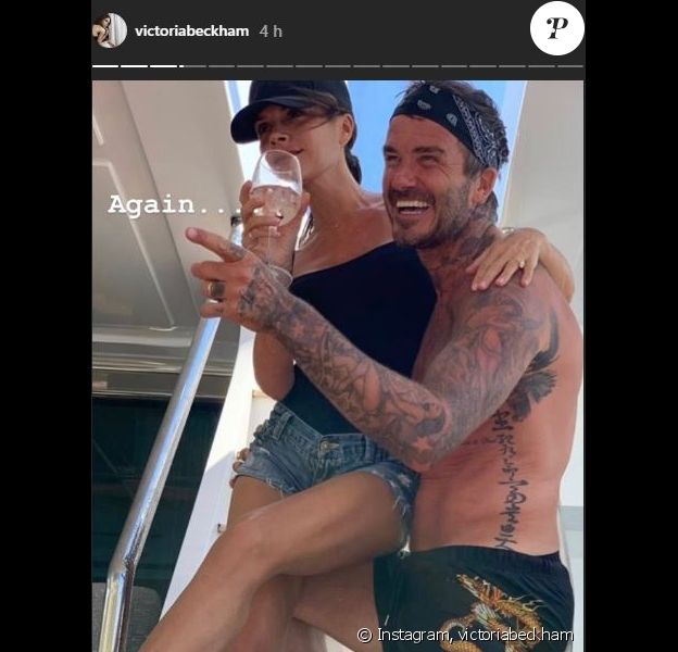 Victoria Beckham publie des photos de sa famille le 22 août 2019.