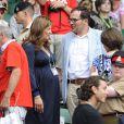 Mirka et Roger Federer à Wimbledon le 3 juillet 2009