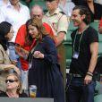 Mirka Federer et Gavin Rossdale à Wimbledon le 3 juillet 2009