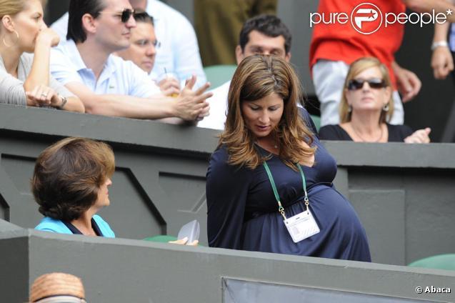 Mirka Federer de plus en plus de mal à se mouvoir à Wimbledon le 3 juillet 2009