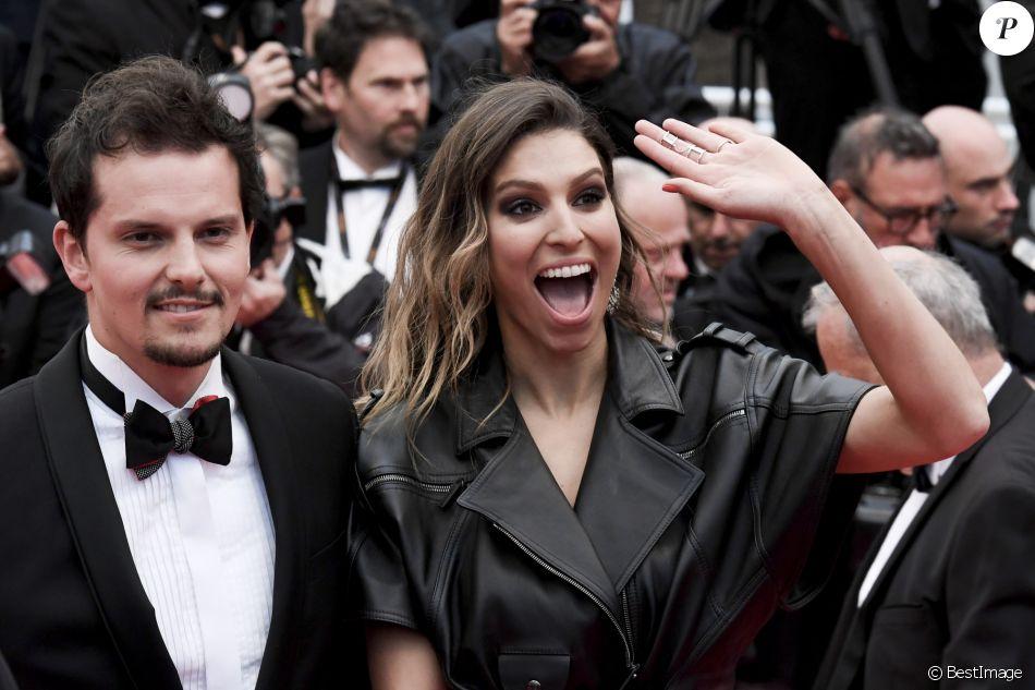 """Laury Thilleman (Miss France 2011) et son fiancé Juan Arbelaez à la première de """"Douleur et Gloire"""" lors du 72ème Festival International du Film de Cannes, le 17 mai 2019."""