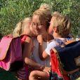 Elodie Gossuin avec ses jumeaux Joséphine et Léonard le 6 juillet 2019 sur Instagram.
