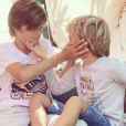 Elodie Gossuin et ses quatre enfants - Instagram, samedi 24 août 2019