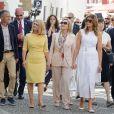 Malgorzata Tusk, la femme du président du conseil de l'europe, Cecilia Morel, femme du président du Chili, Melania Trump - Brigitte Macron et les conjoints visitent la ville de Espelette en marge du sommet du G7 à Biarritz le 25 août 2019. © Thibaud Moritz / Pool / Bestimage
