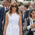 Melania Trump - Brigitte Macron et les conjoints visitent la ville de Espelette en marge du sommet du G7 à Biarritz le 25 août 2019. © Thibaud Moritz / Pool / Bestimage