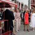 Cecilia Morel, femme du président du Chili, Brigitte Macron, Melania Trump - Brigitte Macron et les conjoints visitent la ville de Espelette en marge du sommet du G7 à Biarritz le 25 août 2019. © Thibaud Moritz / Pool / Bestimage