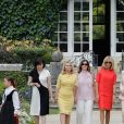 Akie Abe, la femme du premier ministre du Japon, Malgorzata Tusk, la femme du président du conseil de l'europe, Jenny Morrison, la femme du premier ministre de l'Australie, Brigitte Macron, Adele Malpass, femme du président du groupe de la banque mondiale, Melania Trump - Brigitte Macron et les conjoints visitent la ville de Espelette en marge du sommet du G7 à Biarritz le 25 août 2019. © Thibaud Moritz / Pool / Bestimage