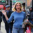 """Exclusif - Lara Spencer se promène à New York après l'émission """"Good Morning America"""" le 16 mars 2018."""