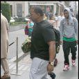 Timbaland en famille à Paris, le 3 juillet 2009. Ici son fils aîné Demetrius.