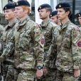Le prince Nikolai de Danemark, fils du prince Joachim et de la comtesse Alexandra, défilant lors d'une cérémonie en hommage aux soldats danois à Varde le 5 septembre 2018.