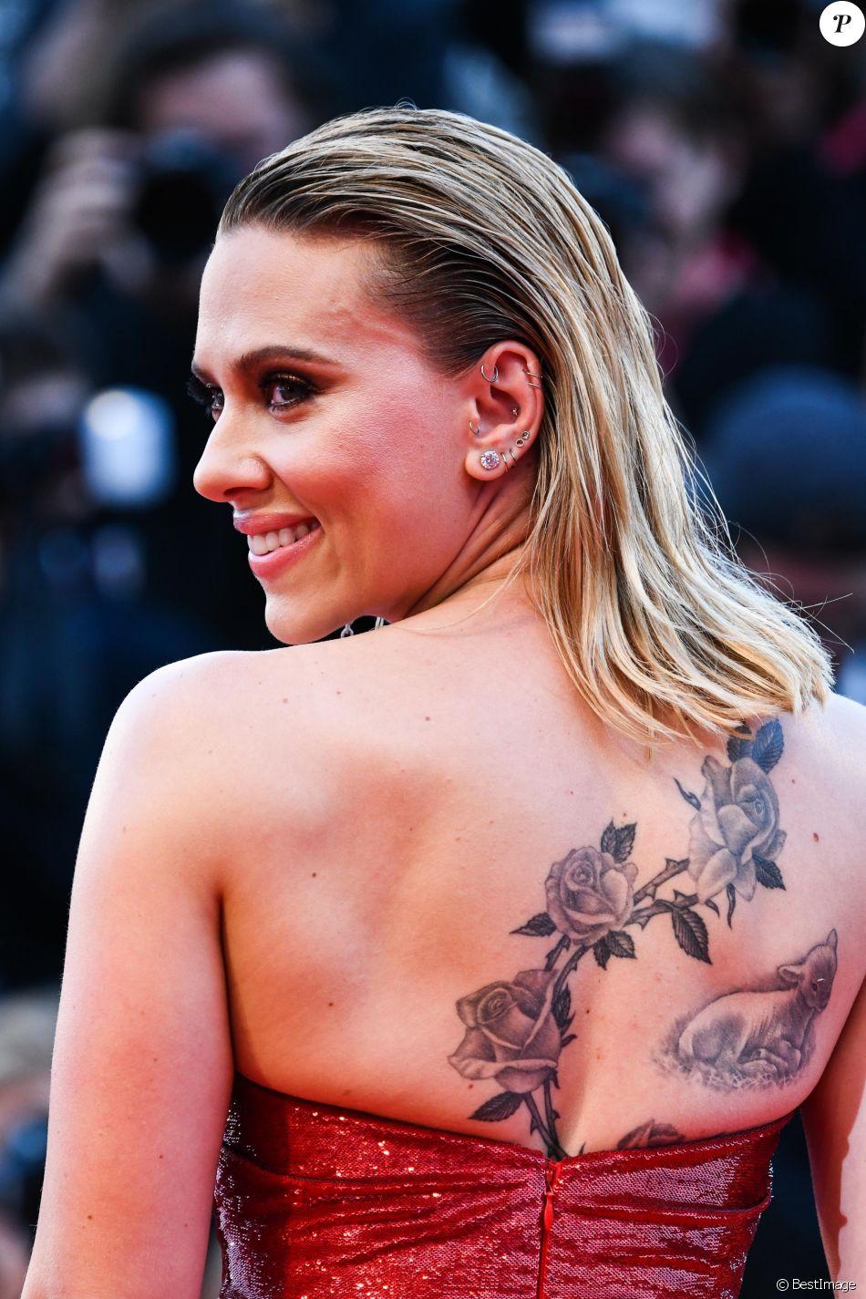 """Scarlett Johansson lors de la première du film """"Marriage Story"""" lors du 76e festival du film de Venise, la Mostra, sur le Lido au Palais du cinéma de Venise, Italie, le 29 août 2019."""