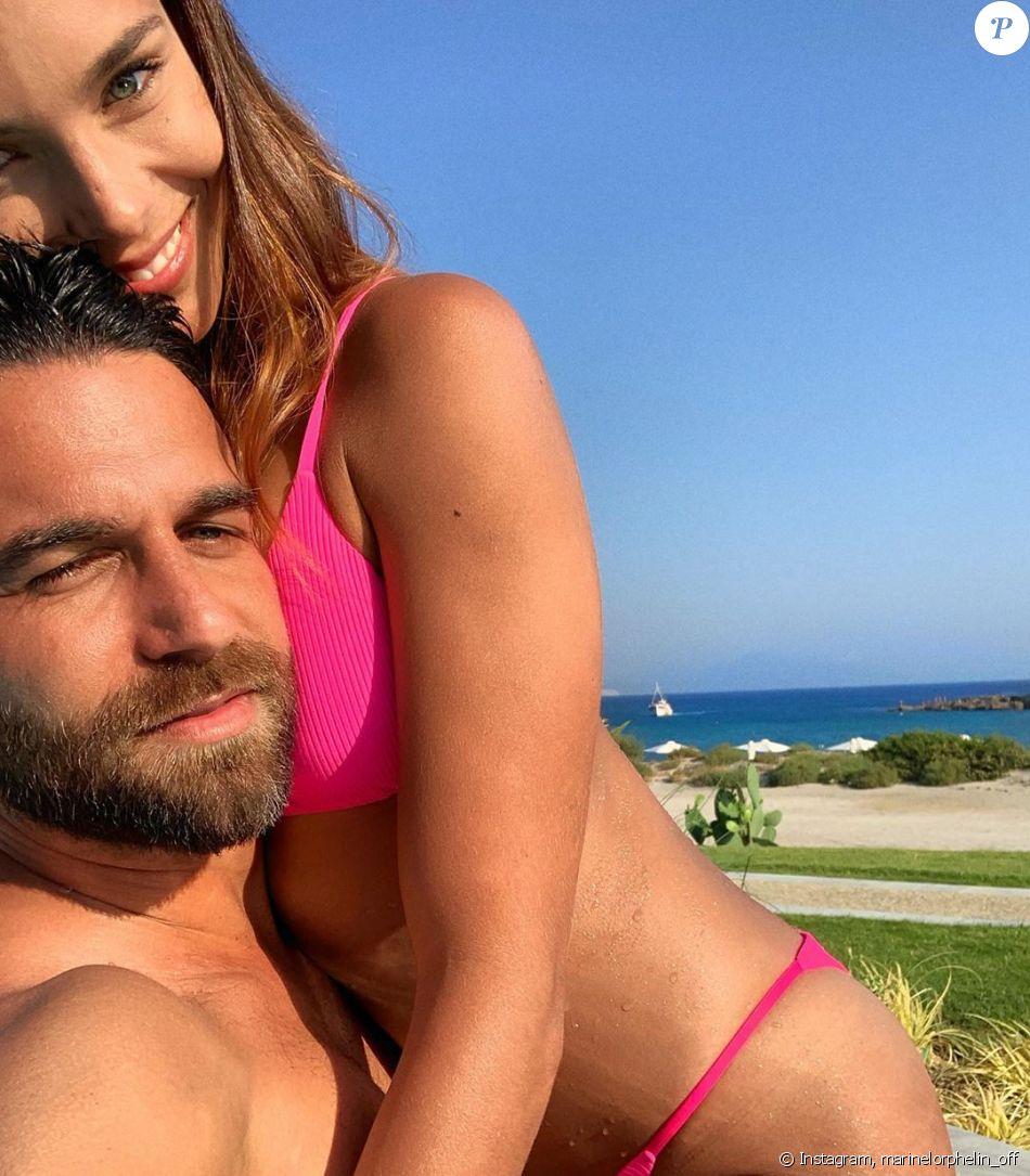 Marine Lorphelin et Christophe, son petit-ami, sur Instagram.