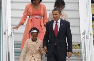 Les filles du président Obama sont déjà top tendance... avec maman Michelle et papa Barack à Moscou  !