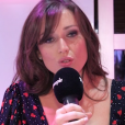 """Elsa Esnoult en interview pour """"Purepeople"""" lors de la conférence de presse de """"Danse avec les stars 10"""", le 4 septembre 2019, sur TF1"""