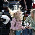 Dakota Fanning sur le tournage de The Runaways à Reseda en Californie le 21 juin 2009
