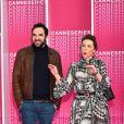 Anne-Elisabeth Blateau et David Mora durant la soirée d'ouverture de la compétition du Canneseries le 7 avril 2018. © Bruno Bebert / Bestimage