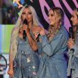 """Le groupe de pop Little Mix en concert dans le """"One Show"""" de la BBC à Londres. Le 14 juin 2019."""