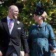 Zara Tindall (Phillips) et son mari Mike Tindall à Windsor le 19 mai 2018 lors du mariage du prince Harry et de Meghhan Markle.