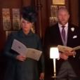 Zara Tindall (Phillips) et Mike Tindall lors de la cérémonie du mariage du prince Harry et de Meghan Markle, le 19 mai 2018 à Windsor