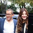 """Dany Boon, Alice Pol - Arrivées et sorties des invités de l'émission """"Vivement Dimanche"""" au studio Gabriel à Paris le 9 septembre 2019."""