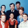 Donny Most, Henry Winkler, Erin Moran, Tom Bosley, Anson Williams, Marion Ross, Ron Howard, les acteurs de la série ''Happy Days'' - 1974-1984. © Paramount TV via ZUMA Press/Bestimage
